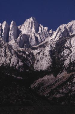 Snow on Mount Whitney