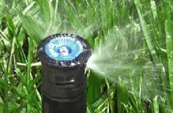 Close up of sprinkler head