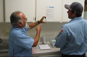 MVWD employees testing water samples